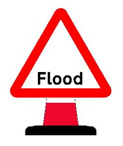 Portable Road Works Signs | Road Cone Signs | 750mm Cone sign Flood