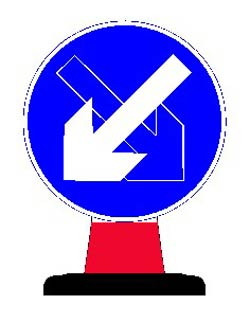 Portable Road Works Signs | Road Cone Signs | 750mm Cone sign Directional Arrow Reversible