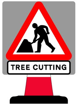 Portable Road Works Signs | Road Cone Signs | 750x750mm Tree Cutting Sign