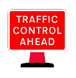 Portable Road Works Signs | Road Cone Signs | 1050 x750mm Cone sign Traffic Control Ahead