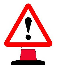 Portable Road Works Signs | Road Cone Signs | 750mm Cone sign Other Danger